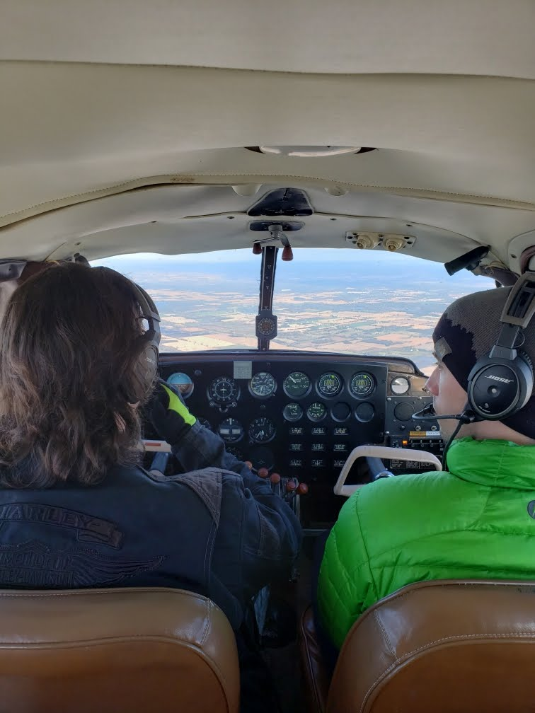 Flying to Devil's Lake